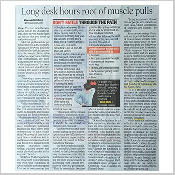 Long Sitting Hours Root of Muscles Pain