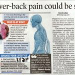 Acute Lower Back Pain Could be Spinal Arthritis