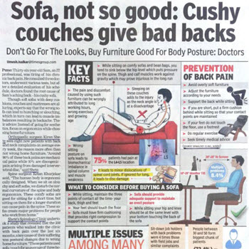 Cushy Couches and Back Pain