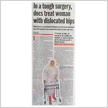 Doctors Treated Woman With Dislocated Hips