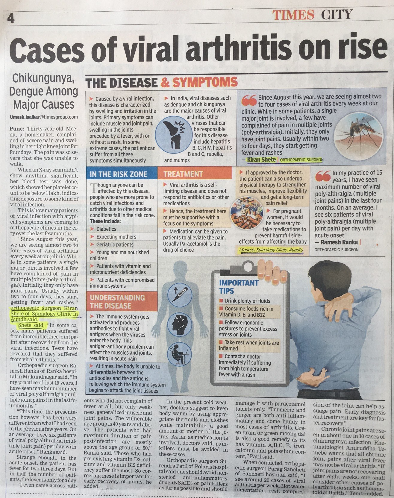 Case of Viral Arthritis on Rise