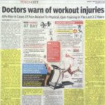 Feature Doctors Warning for Workout Injuries