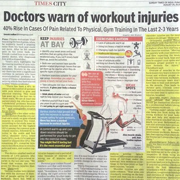 Doctors Warning for Workout Injuries