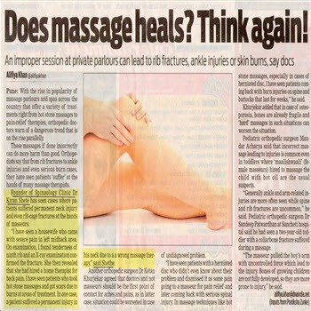 Does Massage Heals. Think again!