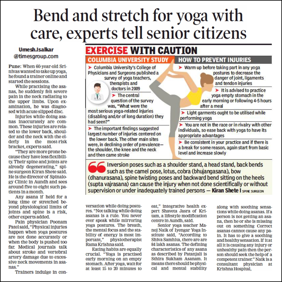 Bend and Stretch for Yoga with Care, Experts tell Senior Citizens