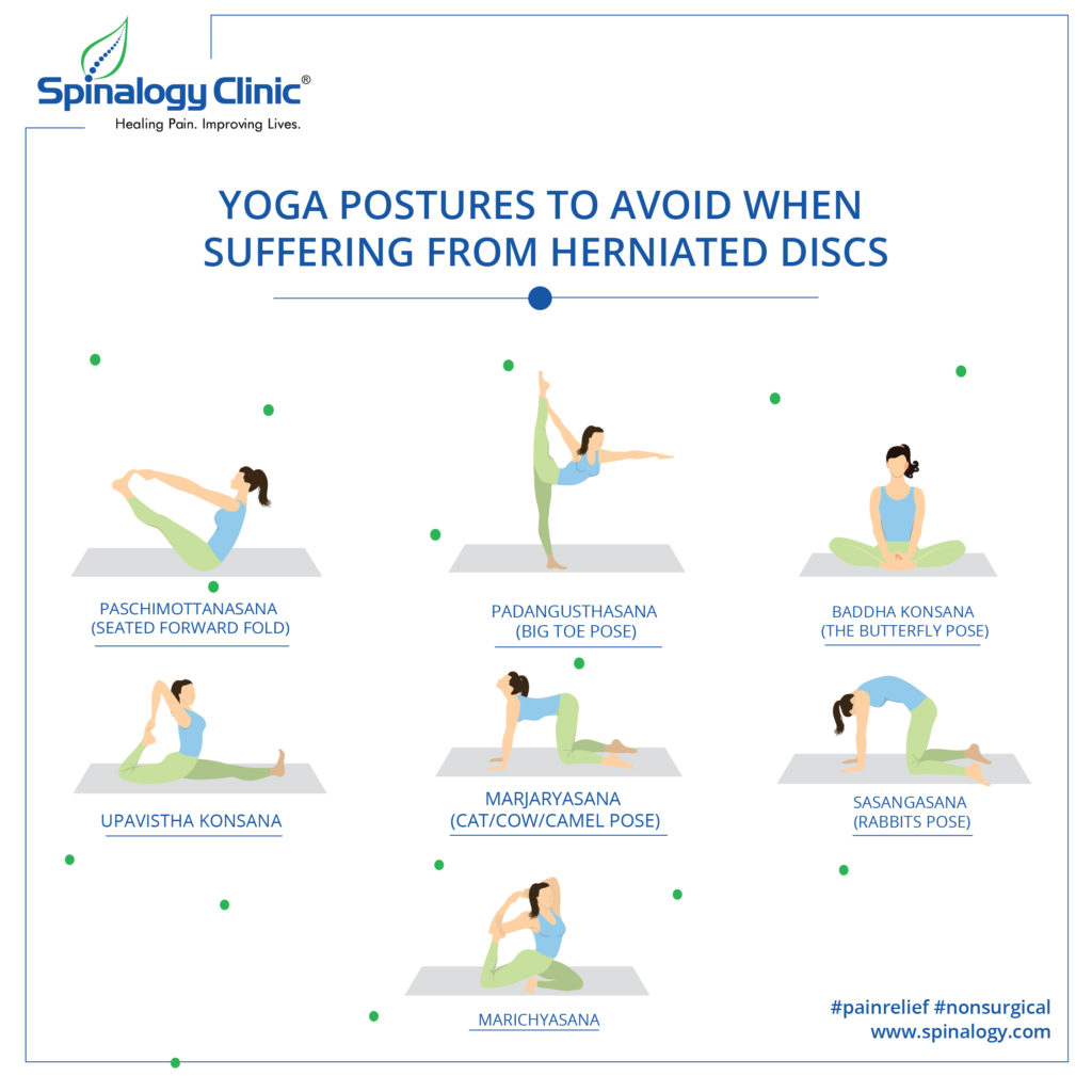 Yoga Postures to Avoid When Suffering From Herniated Discs